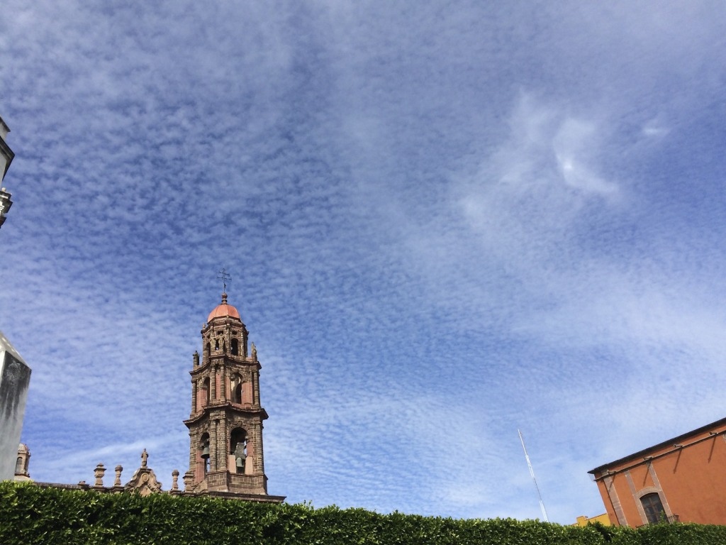 San Miguel church and sky