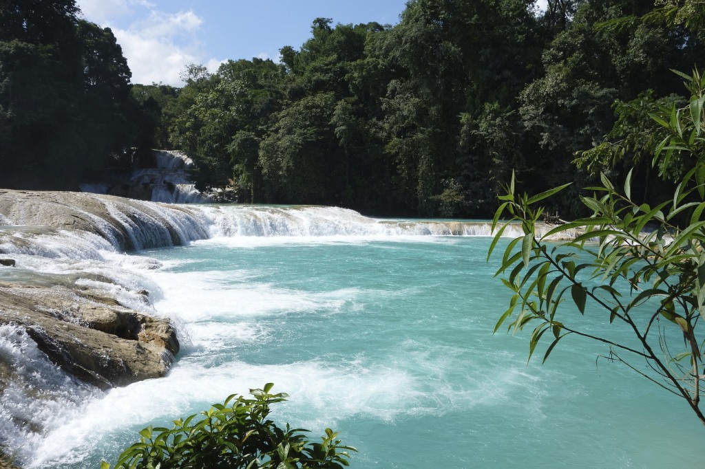 Agua Azul Falls on the road to Palenque