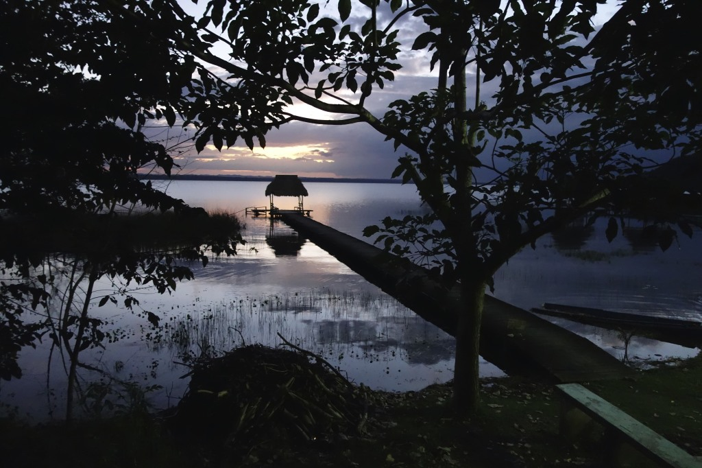View from our campsite on Lake Peten Itza