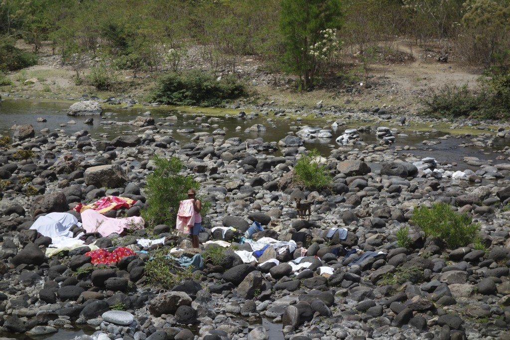 Laundry on the river.