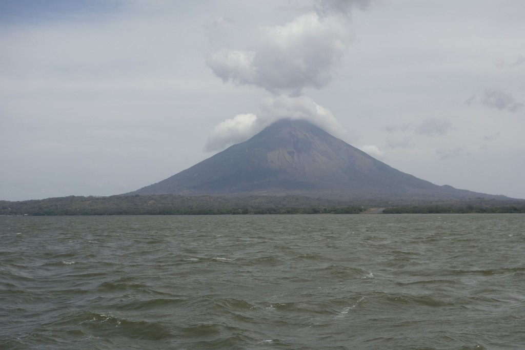 On the way to Ometepe Island by ferry.