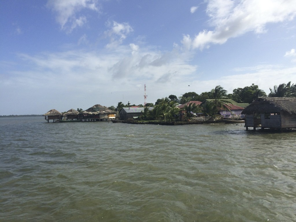 The town of Pearl Lagoon.