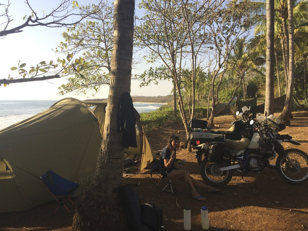 Quiet campground on the Pacific Coast of Costa Rica.