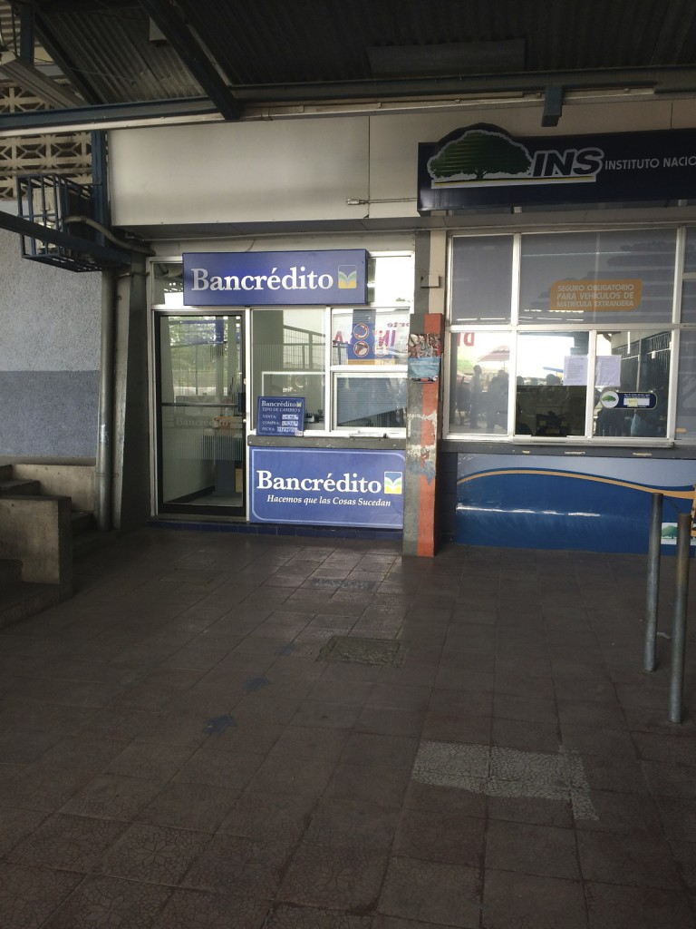 The official location to pay departure tax.