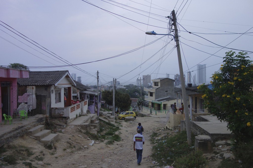 Looks scary but staying in this barrio was one of the highlights of our time in Cartagena.