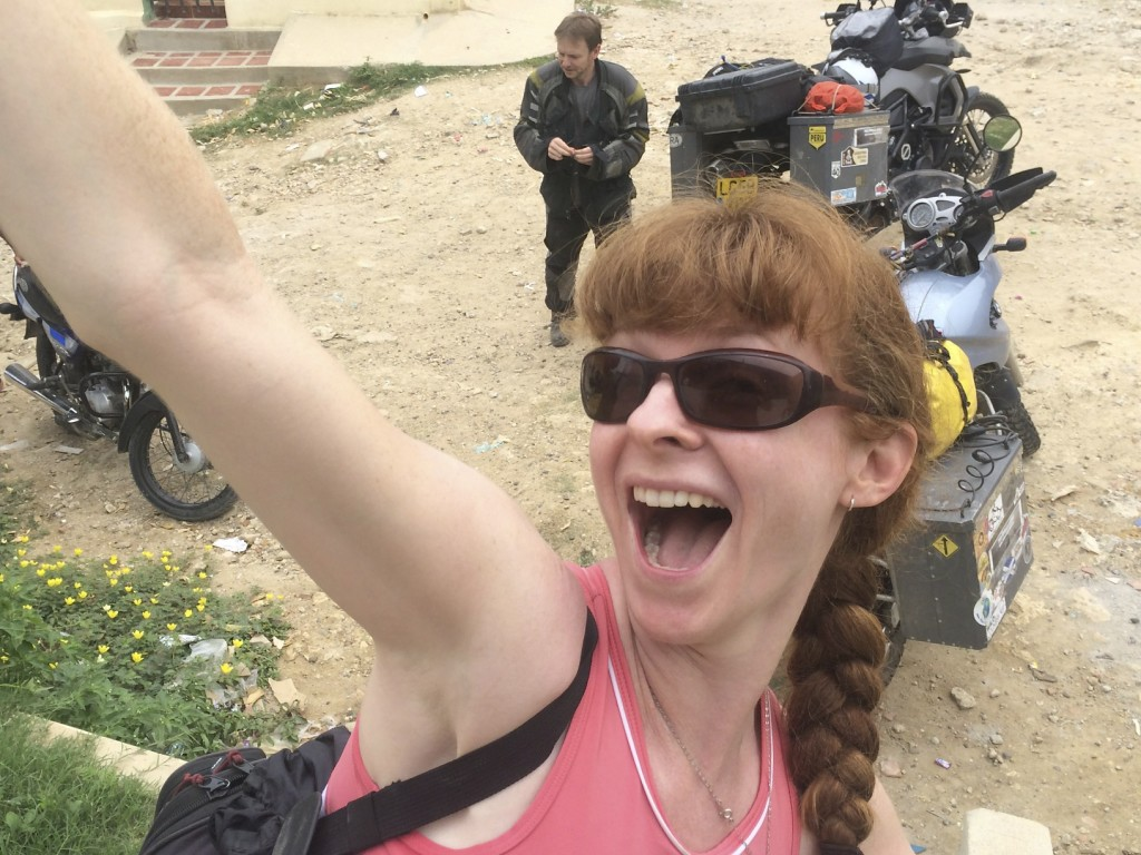 Our ginger-haired friend Lisa from Two Wheeled Nomads.