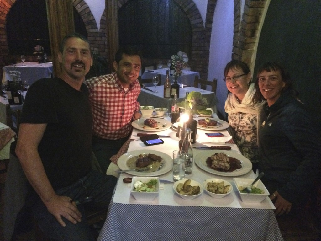 Dinner with our Bogota friends Jairo and Maria Clara. Jairo dropped what he was doing for a couple days and came to our aid simply out of the goodness of his heart. With his help we were able to quickly get Shannon's bike fixed. Thank you for everything Jairo and Maria Clara, we miss you both already!