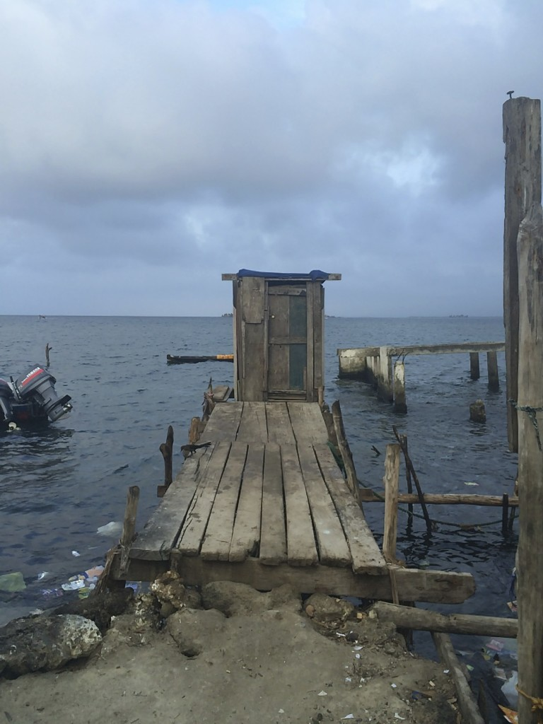 This is one of the nicer restroom facilities on the island. All sanitation is directly into the sea and these little huts ringed the island to meet the needs of the islands 800 inhabitants. While using the loo it was novel to look through the gaps in the floor boards at the fish swimming below.