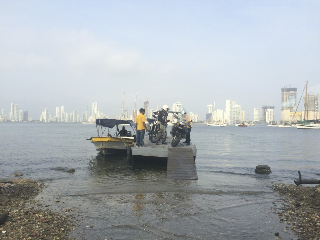 Without fanfare we roll onto Colombian soil for the quasi-illegal run through town to the customs office to sort out the importing of the bikes. No one batted an eye as six motorcycles were ferried to shore at 7 o'clock in the morning.