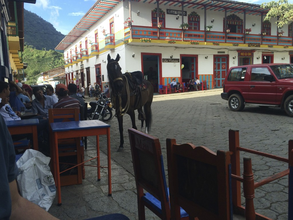 The local populace loved the central plaza as much as we did and spent an inordinate amount of time drinking coffee and lounging about. They got to town by foot, horse, moto, tuktuk, or truck.