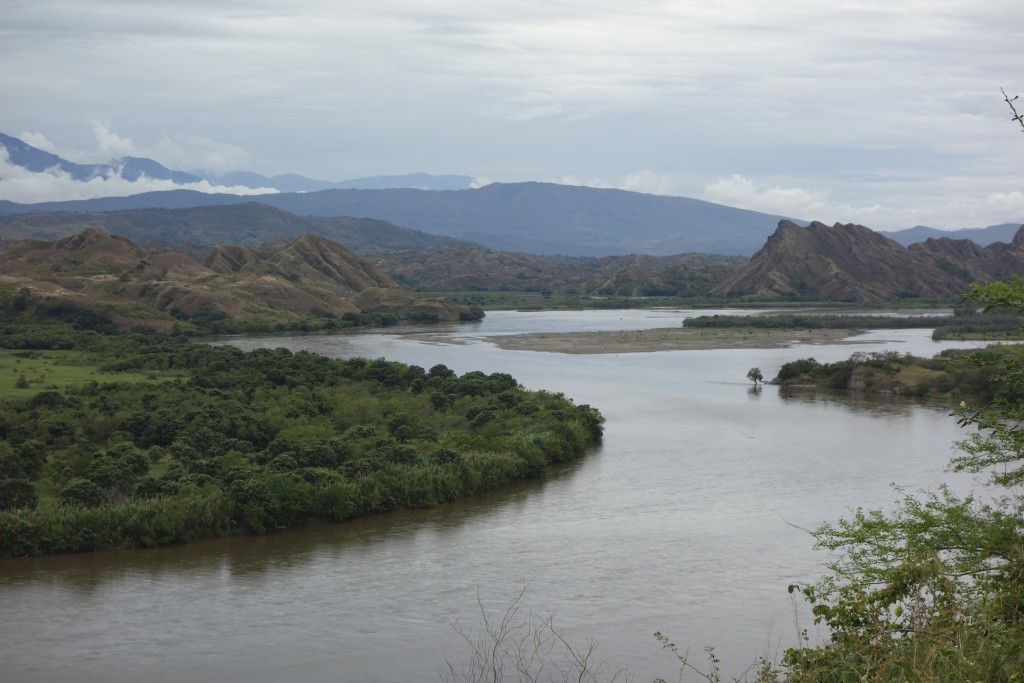 The mother river of Colombia, Rio Magdalena north of the city of Neiva.