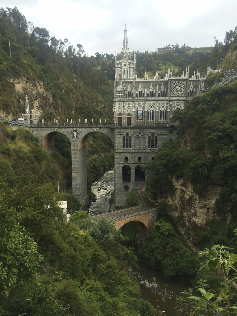 The stunning neo-gothic Santuario de Las Lajas near the town of Ipiales was our last stop in Colombia before crossing into Ecuador.