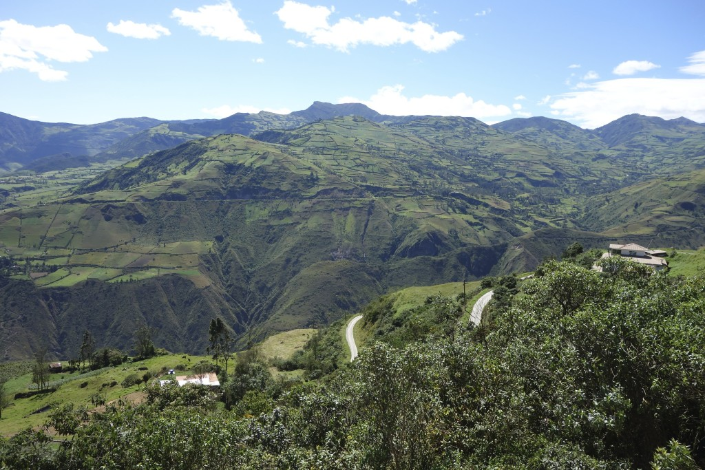 A typical road network in the rural mountains of Peru. Twisty, single-lane, and switchbacks galore, sometimes paved and sometimes not.