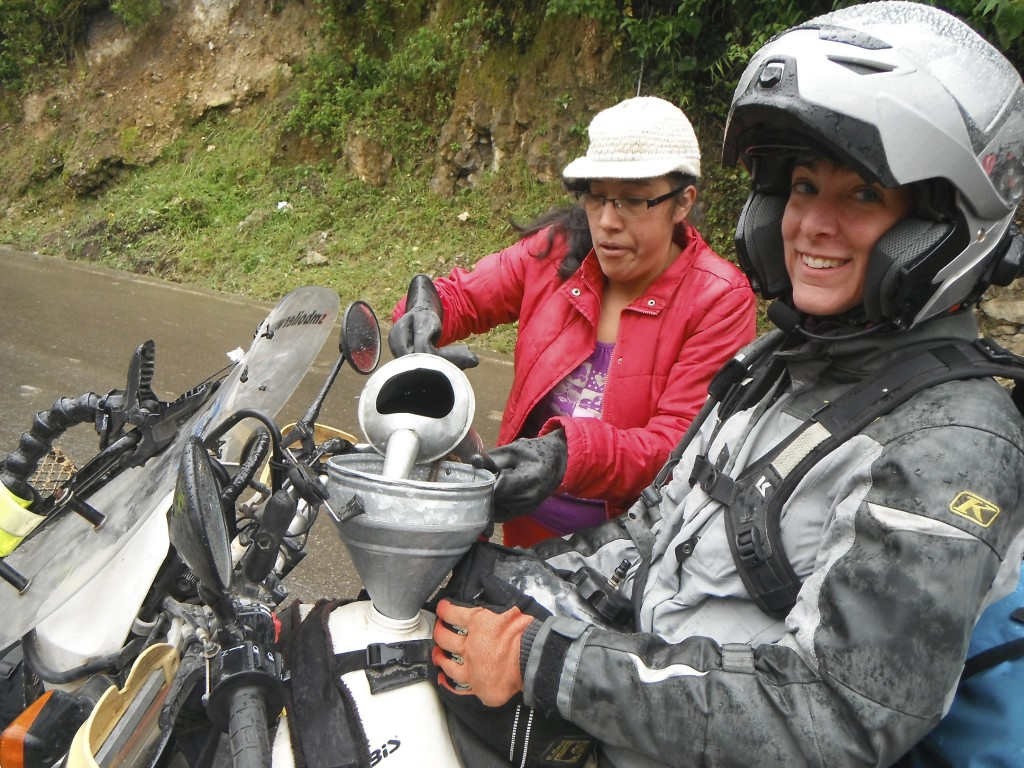 Peruvian Andes rural gas station.