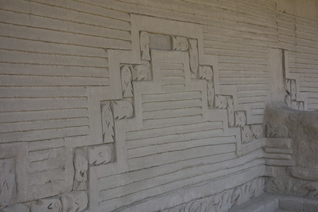 Intricate details have been restored throughout the adobe walls. The fish motif is seen throughout, and it is no wonder, the surf of the Pacific Ocean can be seen from the West wall.
