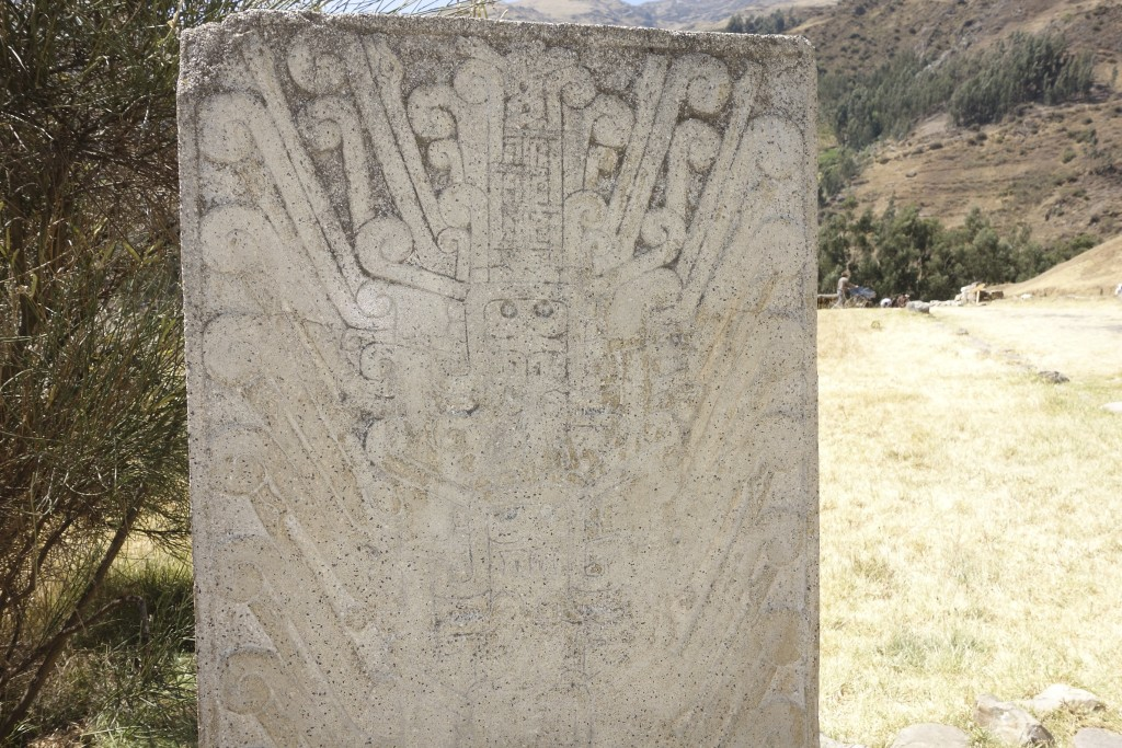 This carved monolith is the first thing you see upon entering the site at Chavin de Huantar.