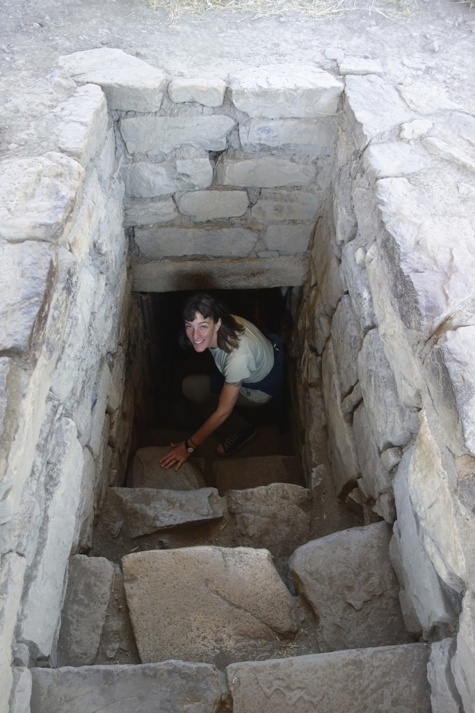 One of the subterranean entrances to the extensive underground complex at Chavin de Huantar.