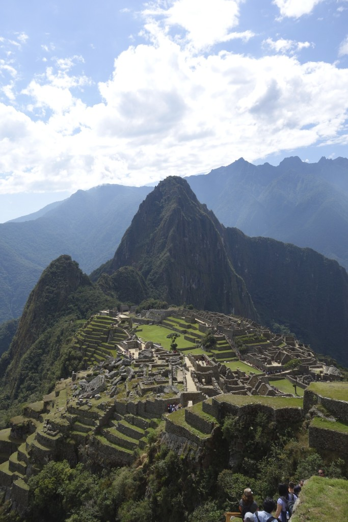 A long range view of Machu Picchu from our walk back from the Inca drawbridge.