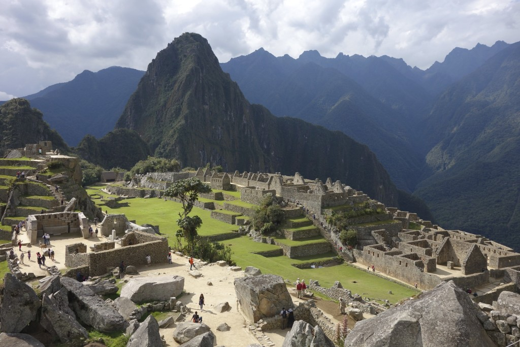 The sun poked out from behind the clouds and lit up a stage set by the Incas.