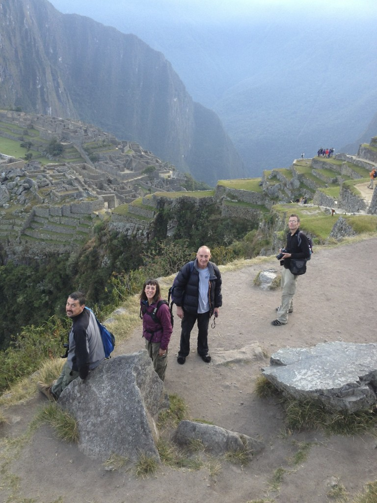 Mike, Shannon, Simon, and Clinton just hanging out at Machu Picchu. It was a long ride from Seattle but worth every mile.