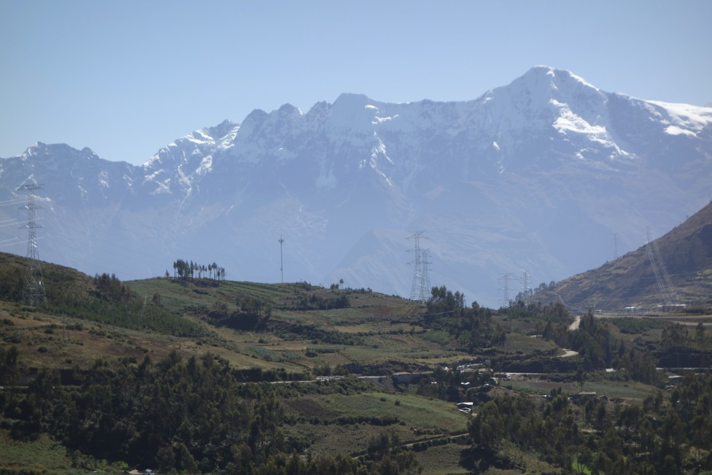 Still a day away from Cusco and the Andes are starting to look like the Himalayas.