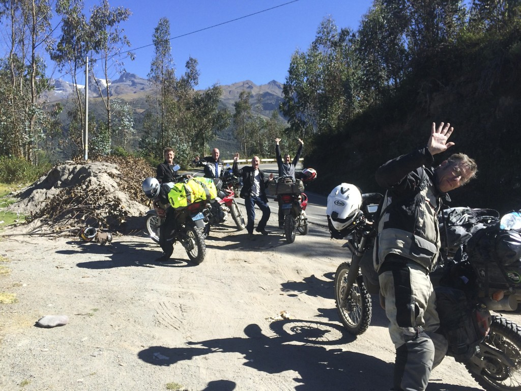 The final push to Cusco and the team is in high spirits as the day begins with donning warm clothes for the mountain pass we will soon cross.