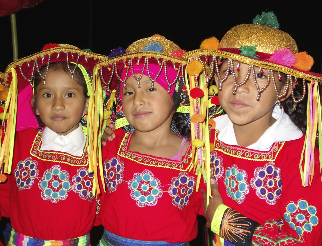 In Santa Teresa, after returning from Machu Picchu, we were fortunate to witness the whole town come out for a parade. All the kids were dressed in traditional Peruvian outfits and danced their way around the square.