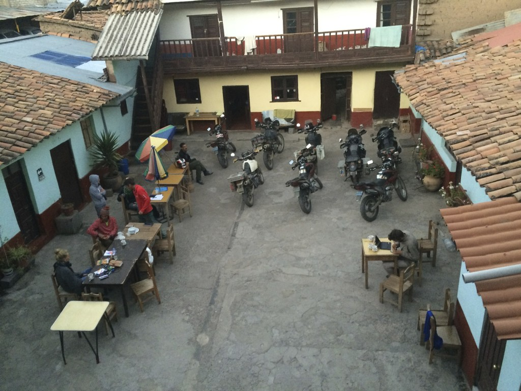 Hostel Estrellita is a welcome stop for motorcyclists. Swapping stories with other bikers, wrenching on the motorcycles, or just hanging in the courtyard, we had everything we needed for a wonderful stay in Cusco.