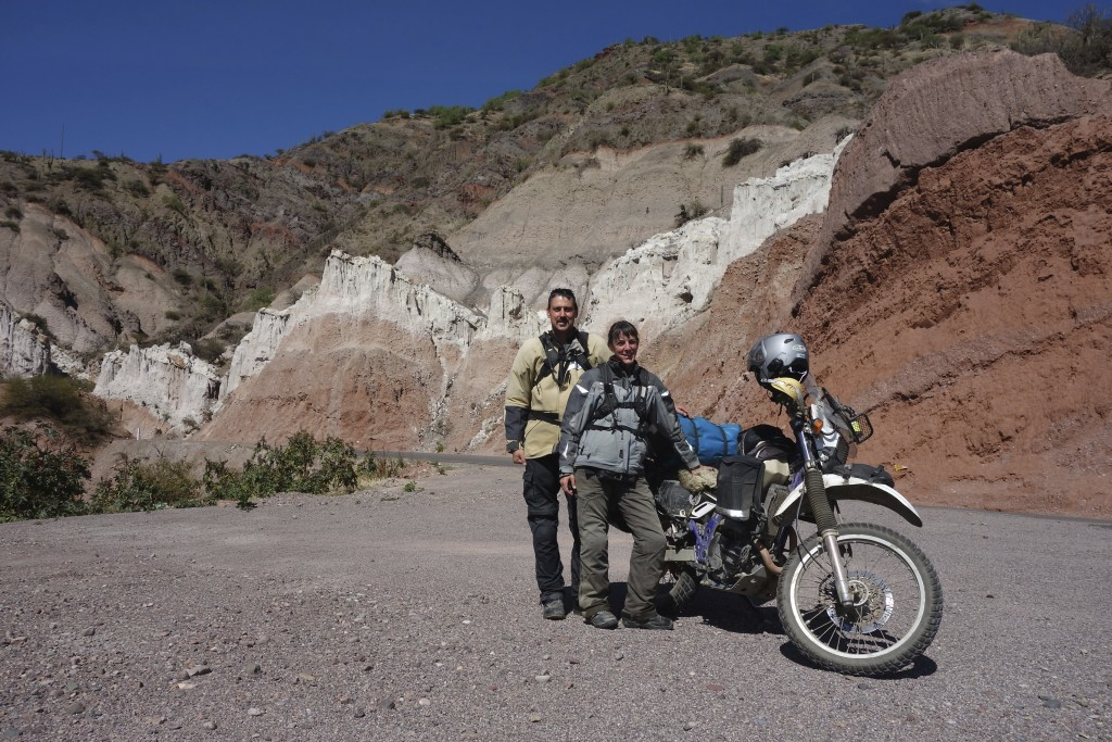 The scenery in Peru is constantly changing as the miles roll by. Riding with Clinton gives us the rare opportunity to have us both in the photograph.