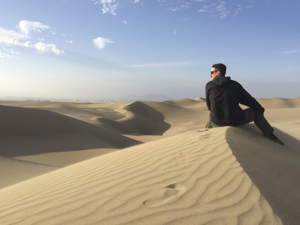The sand dunes of coastal Peru. It is easy to shut the mind off and just listen to grains of sand blowing in the wind. Huacachina, Peru.