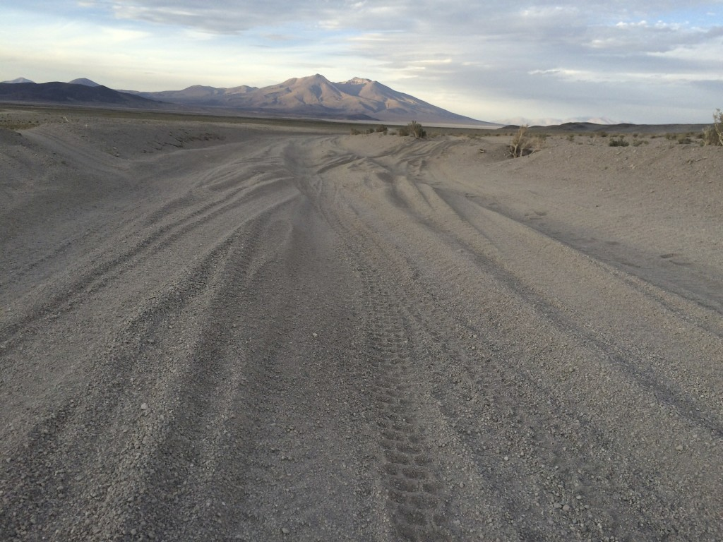 A typical road in on the Bolivian Frontier. The sand slowed us down to a crawl and made for a very long day.