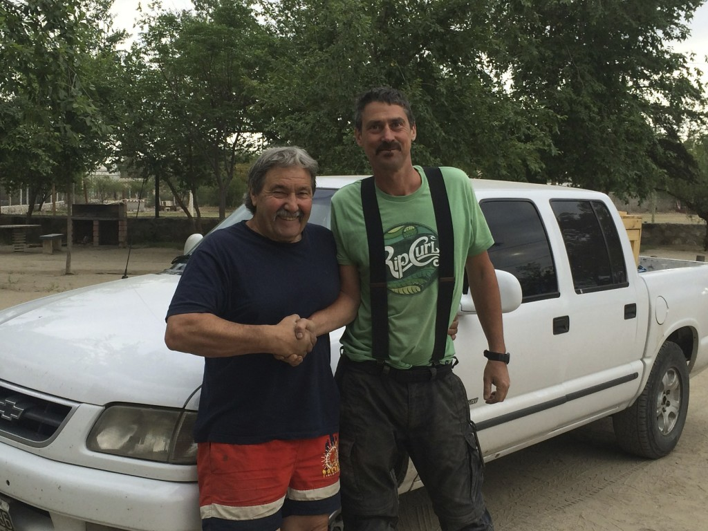 Argentinians love to camp and travel. Our camp neighbor was so happy to meet us he called his son in Buenos Aires and handed the phone to Mike so he could chat with him as well.