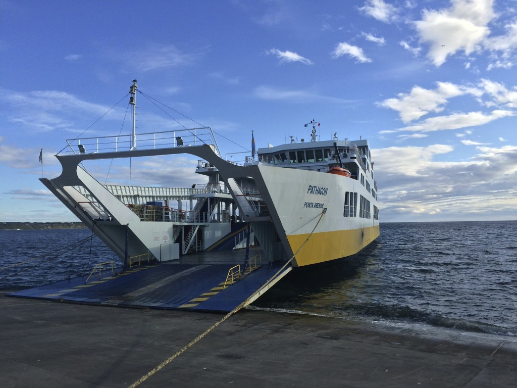 From Punta Arenas, Chile we didn't fancy the idea of backtracking back to Ruta 40 so we opted for the ferry to Porvenir.