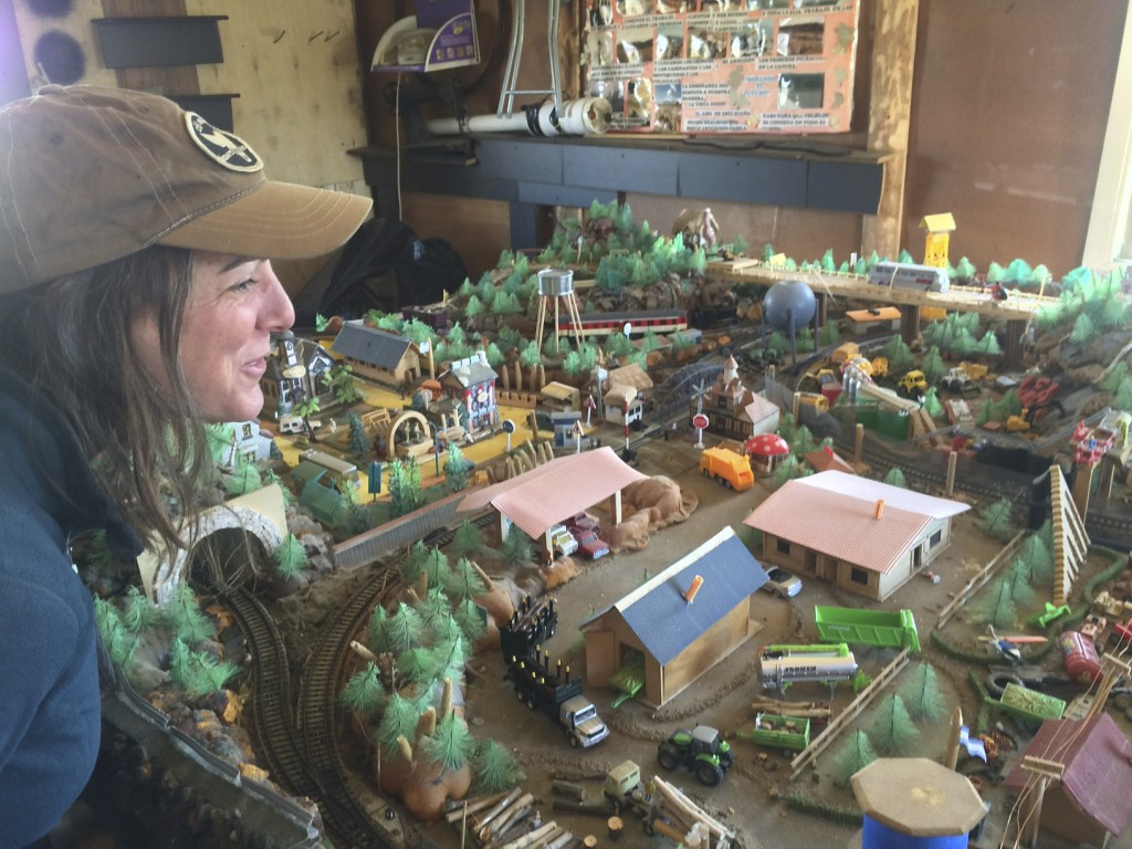 Roberto runs a campsite on Laga Fagnano and loves motorcyclists. He pulled us aside one morning to show us the model train diorama of his hometown that he has been building for 26 years.
