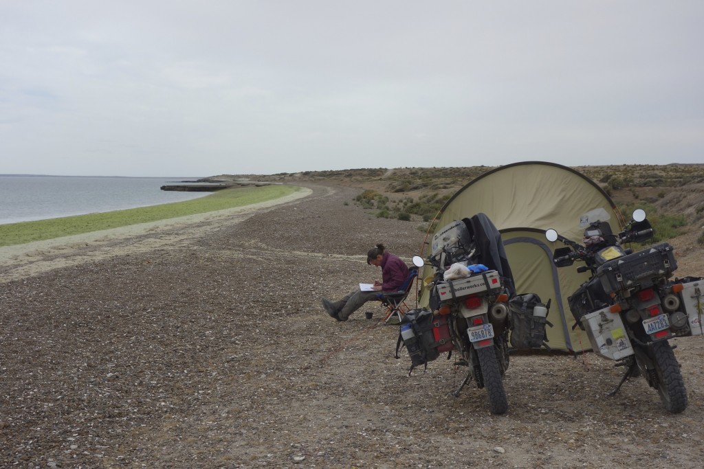 Free camping on a wild beach is pretty high on our list of kick-ass things to do. It was very peaceful here so we stayed for two nights and had the entire place to ourselves. Parque Valdez, Argentina.