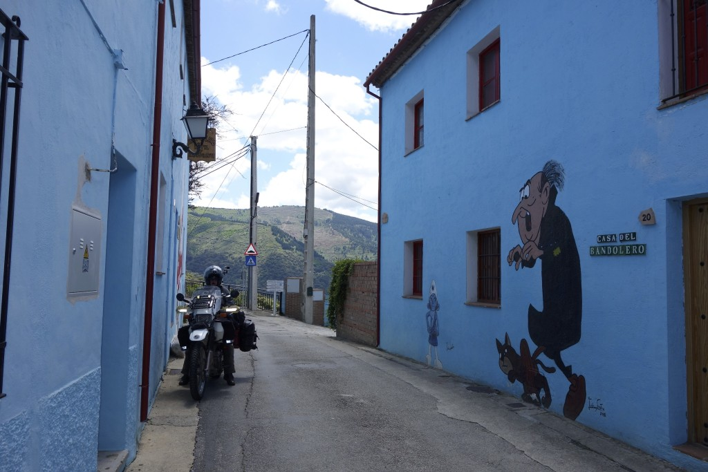 We found the town where the Smurfs go for the winter. Juzcar, Spain.