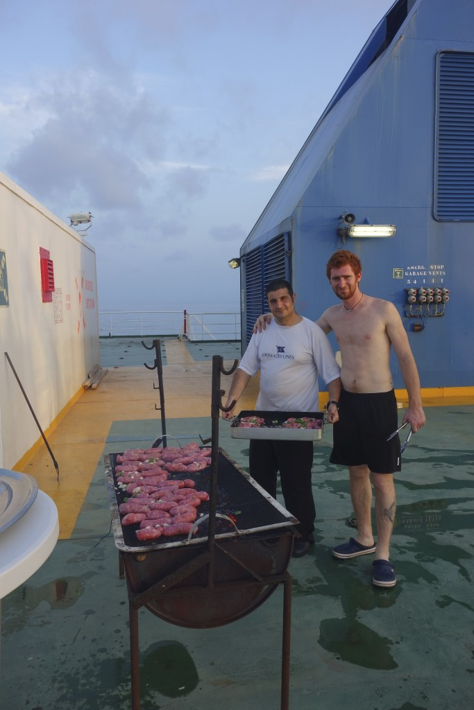 Crossing the Equator was cause for celebration. The captain ordered an afternoon BBQ on the top deck for everyone to enjoy.