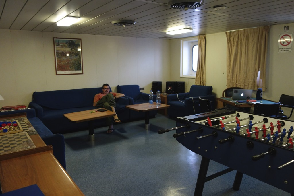 The common room was the main place we could be found if we weren't in our cabin.