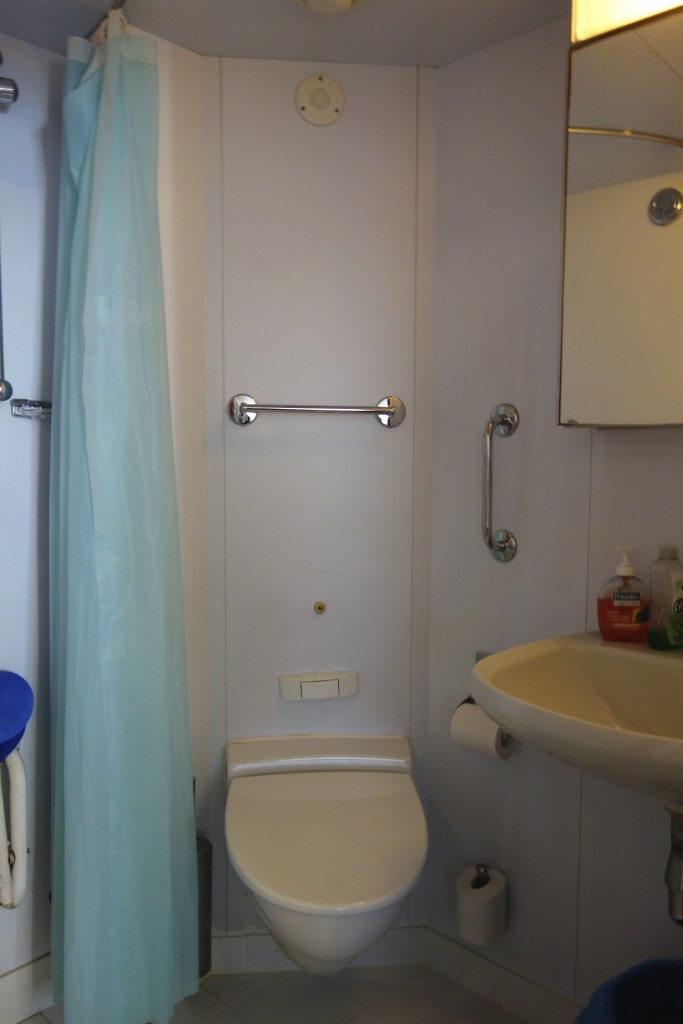 Each cabin has its own toilet and shower.