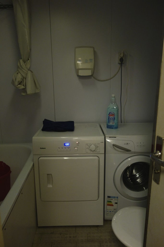 Passengers had their own washer and dryer to use. We took full advantage and washed every stitch of clothing we owned.