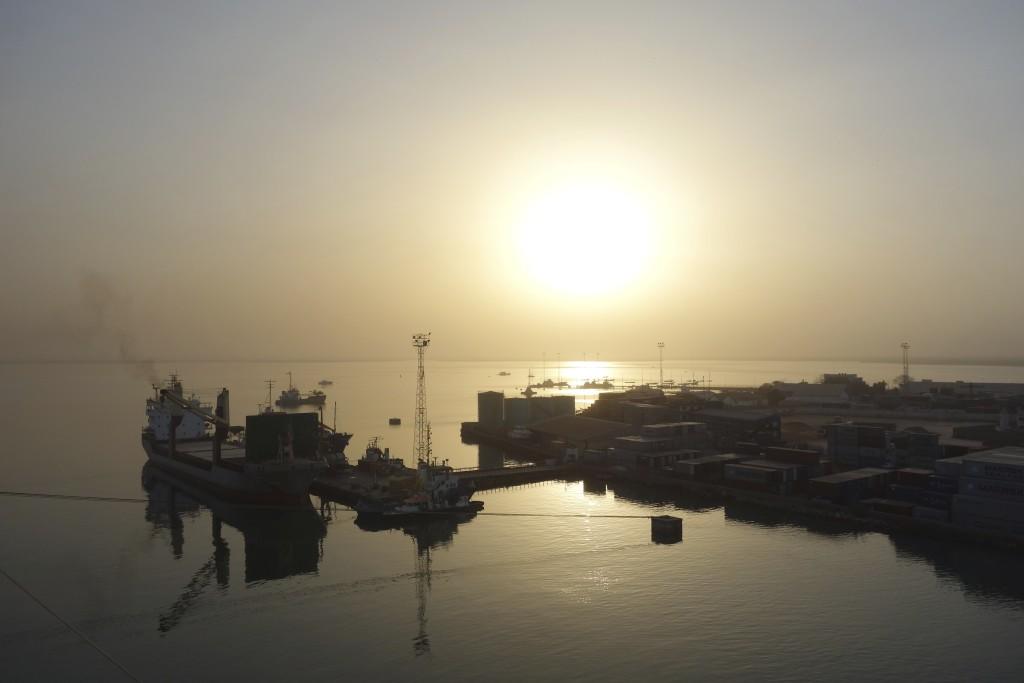 Sunset in The Gambia, West Africa.