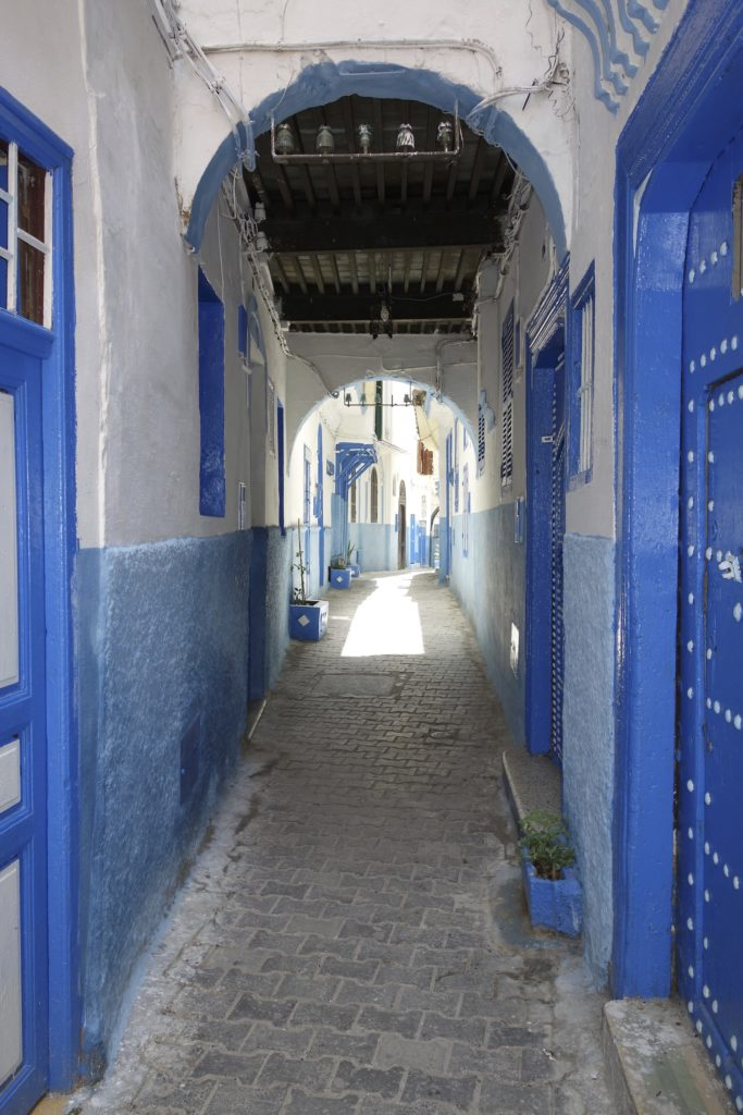 "Inside the walled ""old city"" of Tangier it is easy to get lost. We mucked about for an hour or so pretending we knew where we were going and eventually we popped out of the medina onto a street we knew. Fake it until you make it."