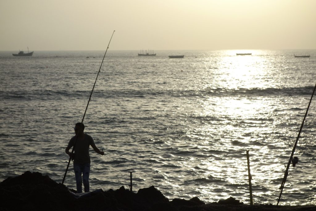 Where the Mediterranean and Atlantic oceans meet. The fishing here is some of the best in the world and the beach was lined with anglers as the sun set.