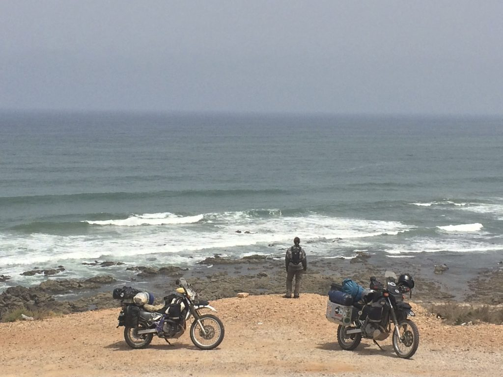After our trip into the Sahara the cool temperatures at the Atlantic Coast were a welcome treat. Sidi Ifni, Morocco.