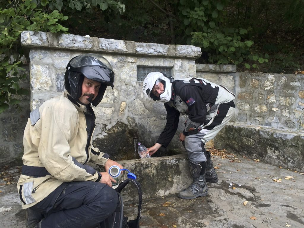 Mountain spring water that is piped to the roadside, and safe to drink, is common in the Balkans.