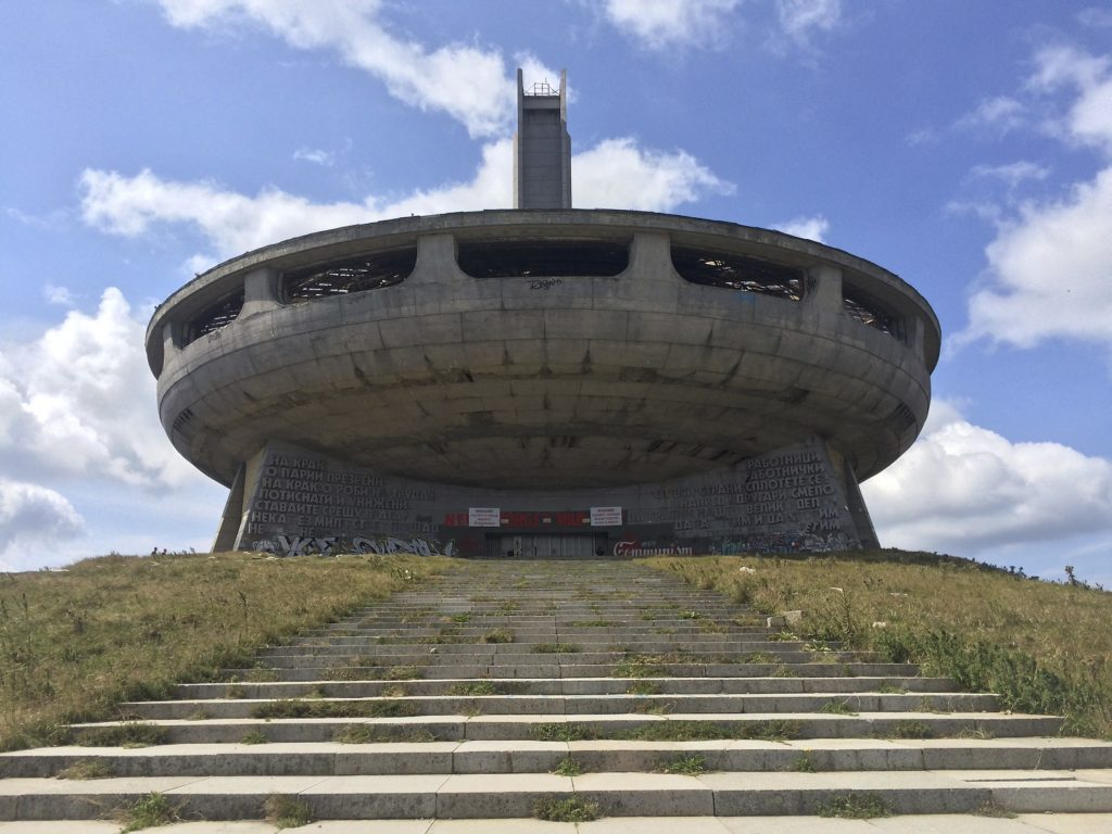 The Buzludzha Monument, Shipka Pass, Bulgaria.