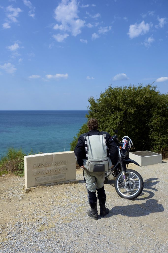 Our riding partner Clinton is from New Zealand and found our visit to Australian and New Zealand Army Corps (ANZAC) Cove especially sobering and personal. This cove became famous as the site of the WWI landing of the ANZACs on 25 April 1915.
