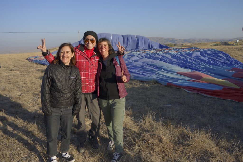 Our balloon captain was one of only 7 female pilots in Turkey. She was equal parts skill and fun. The trip was $85 per person, about half the normal price because there are so few tourists in Turkey at this time.