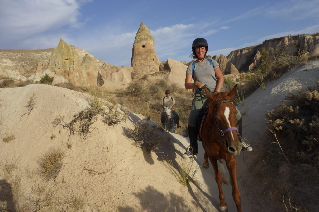 Shannon and Bradley taming the wild East on their trusty steeds. Göreme, Turkey.