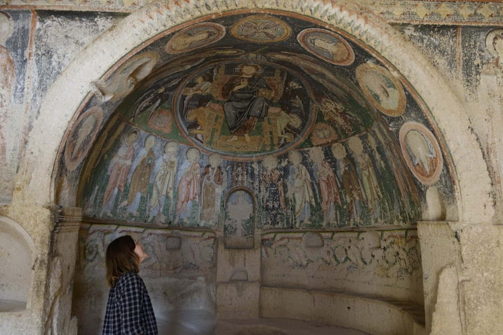 An underground cave monastery with well preserved wall paintings. Treasures like this are everywhere in Cappadocia and a person could spend months in the region exploring all there is to see.